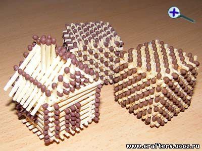 детские поделки строим домик.  Домик из спичек без клея - Сделай сам - Инструкции - Инструкции .  300=400.
